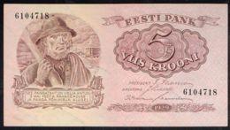 Ref. 4286-4789 - BIN ESTONIA . 1929. ESTONIA 5 KROONI 1929 - Estonia