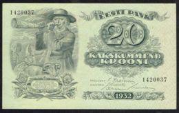 Ref. 4288-4791 - BIN ESTONIA . 1932. ESTONIA 1932 20 KROONI - Estland