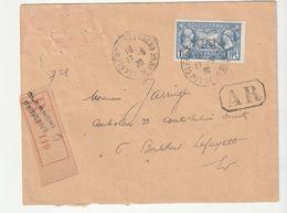 Lettre Recommandée Avec AR Et N°245 Légion Américaine/ Clermont Ferrand,1930 (à Noter D'autres Lettres Diverses à Venir) - Francia