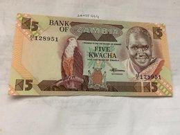 Zambia 5 Kwacha Uncirc. Banknote 2008 #1 - Zambia