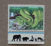 NY99-01 : Nations-Unies (New-York) / Protection De La Nature - Python Arboricole Vert (Chondropython Viridis) - Unused Stamps