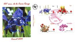 FRANCE. FDC. N°208455. 24/05/2014. Cachet Paris. L'amour En 10 Fleurs. Croix Rouge - 2010-....