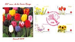 FRANCE. FDC. N°208456. 24/05/2014. Cachet Paris. L'amour En 10 Fleurs. Croix Rouge - 2010-....