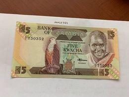 Zambia 5 Kwacha Uncirc. Banknote 2008 #2 - Zambia