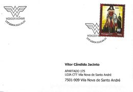 """PORTUGAL - """"meuselo"""" And Postmark - DC Comics Wonder Women (Real Circulated) - Fairy Tales, Popular Stories & Legends"""