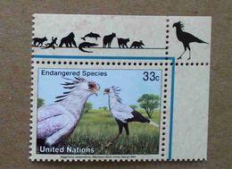 NY99-01 : Nations-Unies (New-York) / Protection De La Nature - Serpentaire (Saggitarius Serpentarius) - Unused Stamps