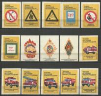RUSSIA USSR 1988  Matchbox Labels 28v Careful Fire - Boites D'allumettes - Etiquettes