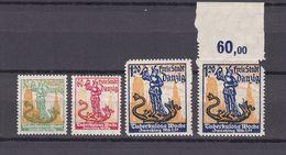Danzig - 1921 - Michel Nr. 90/92 - Postfrisch/Ungebr. M. Falz - 35 Euro - Dantzig