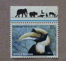 NY03-01 : Nations-Unies (New-York) / Protection De La Nature - Calao Bicorne (Buceros Bicornis) - Unused Stamps