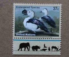 NY03-01 : Nations-Unies (New-York) / Protection De La Nature - Canard à Bosse Bronzé (Sarkidiornis Melanotos) - Unused Stamps