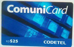 Dominicana RD 25 Codetel Comunicard - Dominicaine