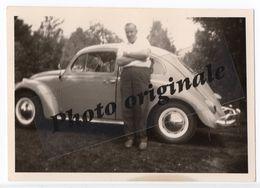 Photo Originale 1962 Autos Voitures Automobiles Cars - Volkswagen VW Coccinelle Käfer Beetle - Homme - Automobili
