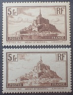 R1319/145 - 1929/1931 - MONT SAINT MICHEL - N°260 (II) + 260a (I) NEUFS** - QUALITE LUXE  - Cote (2020) :  95,00 € - Nuevos