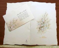 Nozze PARTECIPAZIONE BIGLIETTO INVITO 1982 Parrocchia B.M.V. Assunta Castiglione Torinese TORINO - Wedding