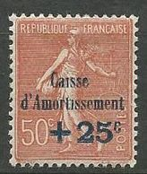 CAISSE D'AMORTISSEMENT N° 250  NEUF*  CHARNIERE / MH - Nuevos
