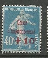 CAISSE D'AMORTISSEMENT N° 246  NEUF*  CHARNIERE / MH - Nuevos
