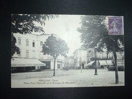 CP GAILLAC (Tarn) Place Pom-Vaissett Et Le Kiosque De Musique TP SEMEUSE 40c OBL CONVOYEUR ? OCT 28 + CAFE DE LA POSTE - Gaillac