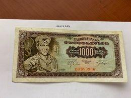 Yugoslavia 1000 Dinara Circulated Banknote 1963 - Jugoslawien