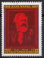 BULGARIA 3164,used - Karl Marx