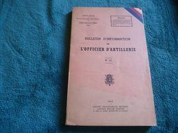 INLICHTINGSBULLETIN Van De ARTILLERIE-OFFICIER    Armée Belge  1953 BELGISCH LEGER - Books