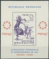Rwanda Ruanda 1967 OCBnr. Bloc 7 ***MNH  Cote 4,50 Euro Wereldtentoonstelling Exposition Universelle Montréal - 1962-69: Nuevos