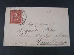 """78 ITALIA Regno Storia Postale -1866- """"T 15 Cifra"""" C. 2 CORREGGIO>VARALLO (descrizione) - 1861-78 Vittorio Emanuele II"""
