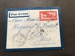 Lettre Entier Indochine Par Avion 1936 Campha Port Tonkin Pour Paris - Indochina (1889-1945)