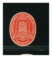 GERMANIA - GIOCHI OLIMPICI  BERLINO 1936   -  VIGNETTA CINDERELLA   Lusso - Sommer 1936: Berlin