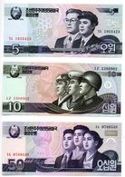 Corée Du Nord / Lot De 3 Billets / UNC - Madagaskar