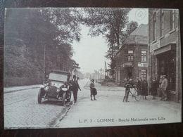 LOMME-     Route Nationale Vers Lille          édit: Lucien Pollet - Lomme