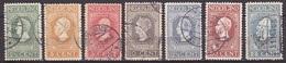1913 Jubileumzegels 2½ T/m 25 Ct Lijntanding 11½ X 11 NVPH 90 / 96 A Gestempeld - 1891-1948 (Wilhelmine)