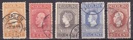 1913 Jubileumzegels 3 T/m 20 Ct Lijntanding 11½ NVPH 91 / 95 B Gestempeld - 1891-1948 (Wilhelmine)