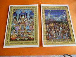 Lot De 2 Cartes Collection Musée Des Beaux Arts D'alger ( Mohammed Racim ) Gouache Sur Papier ( Neuve ) - Museum