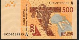W.A.S. IVORY COAST P119Ah 500 FRANCS (20)19 2019 Signature 44 UNC. - West-Afrikaanse Staten