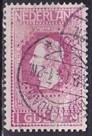 1913 Jubileumzegels Afstempeling 1 Gulden Wijnrood Lijntanding 11½ NVPH 98 B - 1891-1948 (Wilhelmine)