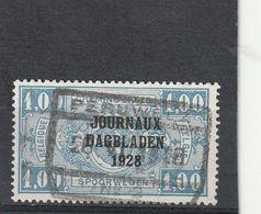 Belgique Oblitéré  1928  Timbre Pour Journaux  N° 8  Timbres Pour Colis Postaux Surchargés Avec Date - Newspaper