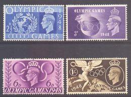 GB Scott 271/274 - SG495/498, 1948 Olympic Games Set MH* - 1902-1951 (Re)