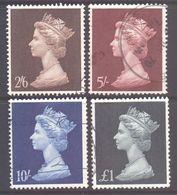 GB SG787/790, 1969 Pre-decimal Machin 2/6d-£1 Set Used - 1952-.... (Elizabeth II)