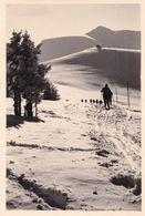Ski De Fond, Montagne à La Neige - Personnes Anonymes