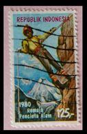 110. INDONESIA 1980 USED STAMP MOUNTAINEERING  . - Indonesia