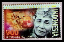 110. INDONESIA 1968 USED STAMP KETUT MARIA (DANCER)  . - Indonesia