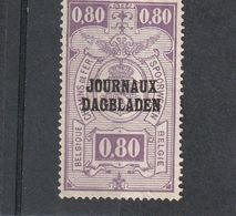 Belgique Oblitéré  1929  Timbre Pour Journaux  N° 24  Timbres Pour Colis Postaux Surchargés Sans Date - Newspaper