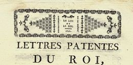 """1790  REVOLUTION  LETTRES PATENTES Avec Bandeau """"La Loi Et Le Roi"""" FOURNITURE DE SEL SELS - Décrets & Lois"""
