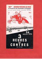 D41.CONTRES. 3 HEURES DE CONTRES.1970. COURSES DE VEHICULES. VEHICLE RACING. - Programme
