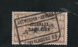Belgique Oblitéré  1929  Timbre Pour Journaux  N° 31  Timbres Pour Colis Postaux Surchargés Sans Date - Newspaper