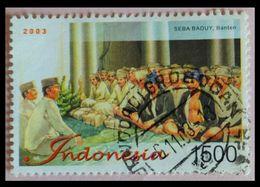 110. INDONESIA 2003 USED STAMP SEBA BADUY , BANTEN  . - Indonésie