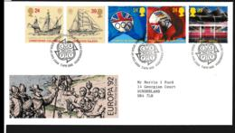 Great Britain FDC 1992 Europa CEPT (NB**LAR9-148) - Europa-CEPT