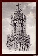 1910 Italia Italy Cartolina Siena Rocca Torre Del Mangia Nuova Postcard - Siena