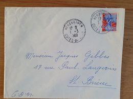 HENANBIHEN - 1er Mars 1960 - Côtes Du Nord D'Armor - Marcophilie (Lettres)