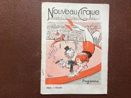 PROGRAMME CIRQUE  NOUVEAU CIRQUE  Année 1923 - Programmi